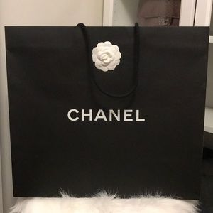 Authentic CHANEL Large Shopping Bag with Flower